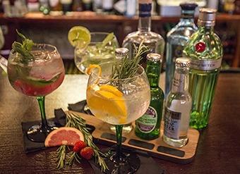 Gin menu at The Salmon Leap