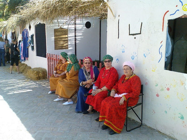 Local women getting into the spirit of things at the Nasari Festival held each year