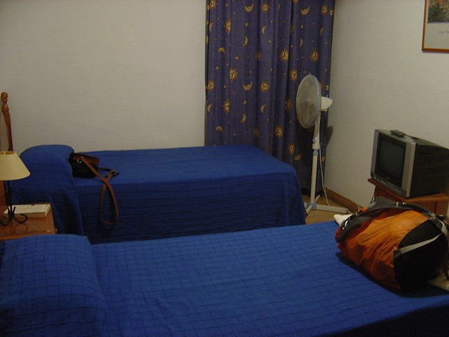 Our hotel room, simple but sufficient.The rooms are very basic, but over all okay.