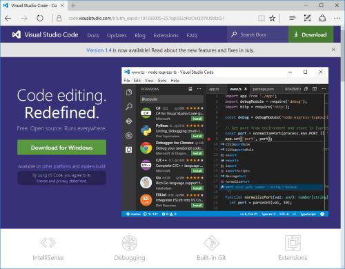 WebStack_VSCodeDownload