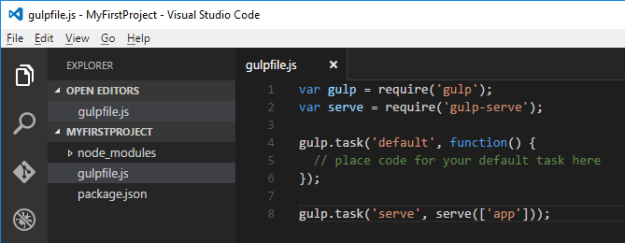 WebStack_VSCodeGulpFileServe