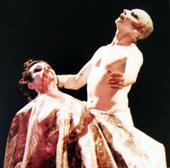 David Haughton (Jokanaan) and Lindsay Kemp (Salomé)