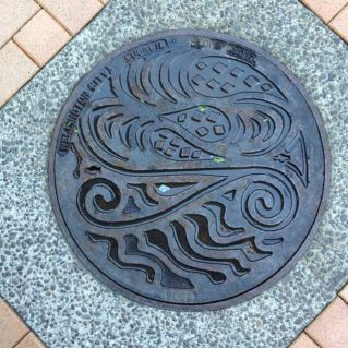 one of the more interesting sewer covers i've collected on my travels