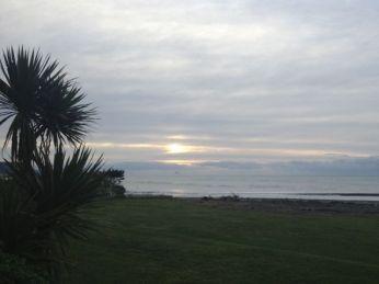 sunrise out back