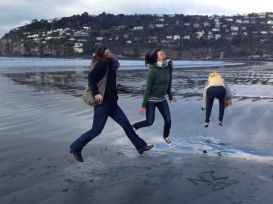 having a bit too much fun in the cold