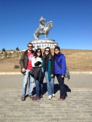 how could we resist a family shot with chinggis khan