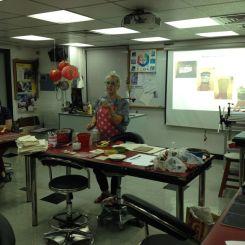 zoe's workshop--printing on clay