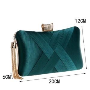 Luxe clutch groen