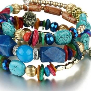 Armband bohemian blauw