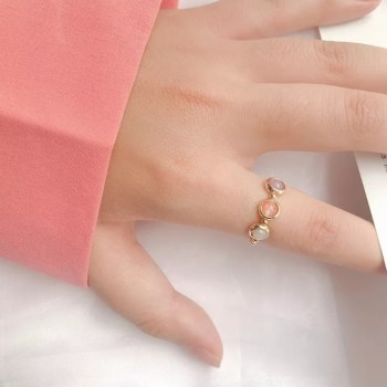 Ring elastisch pastel lentecollectie