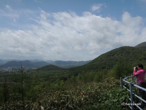 カルデラ展望所からの赤井川村