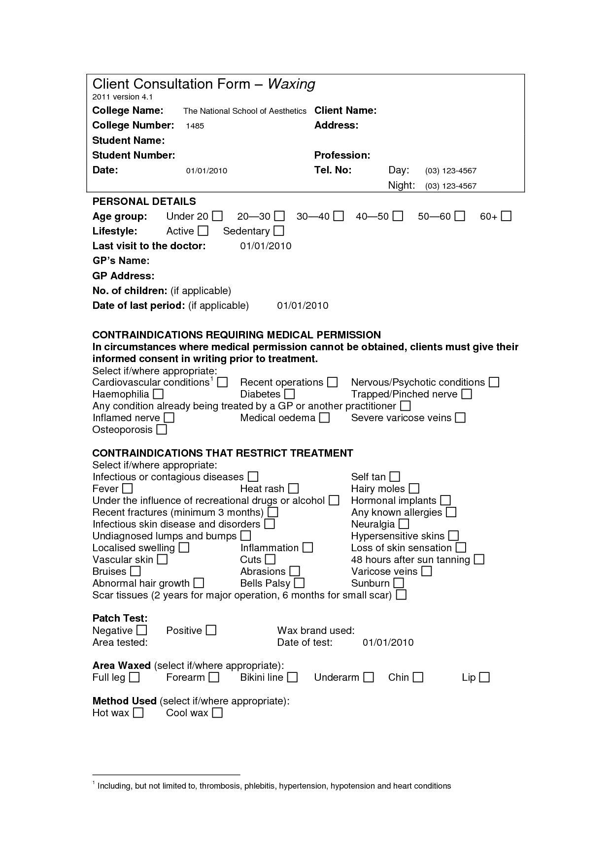 Hairstyle Consultation Form