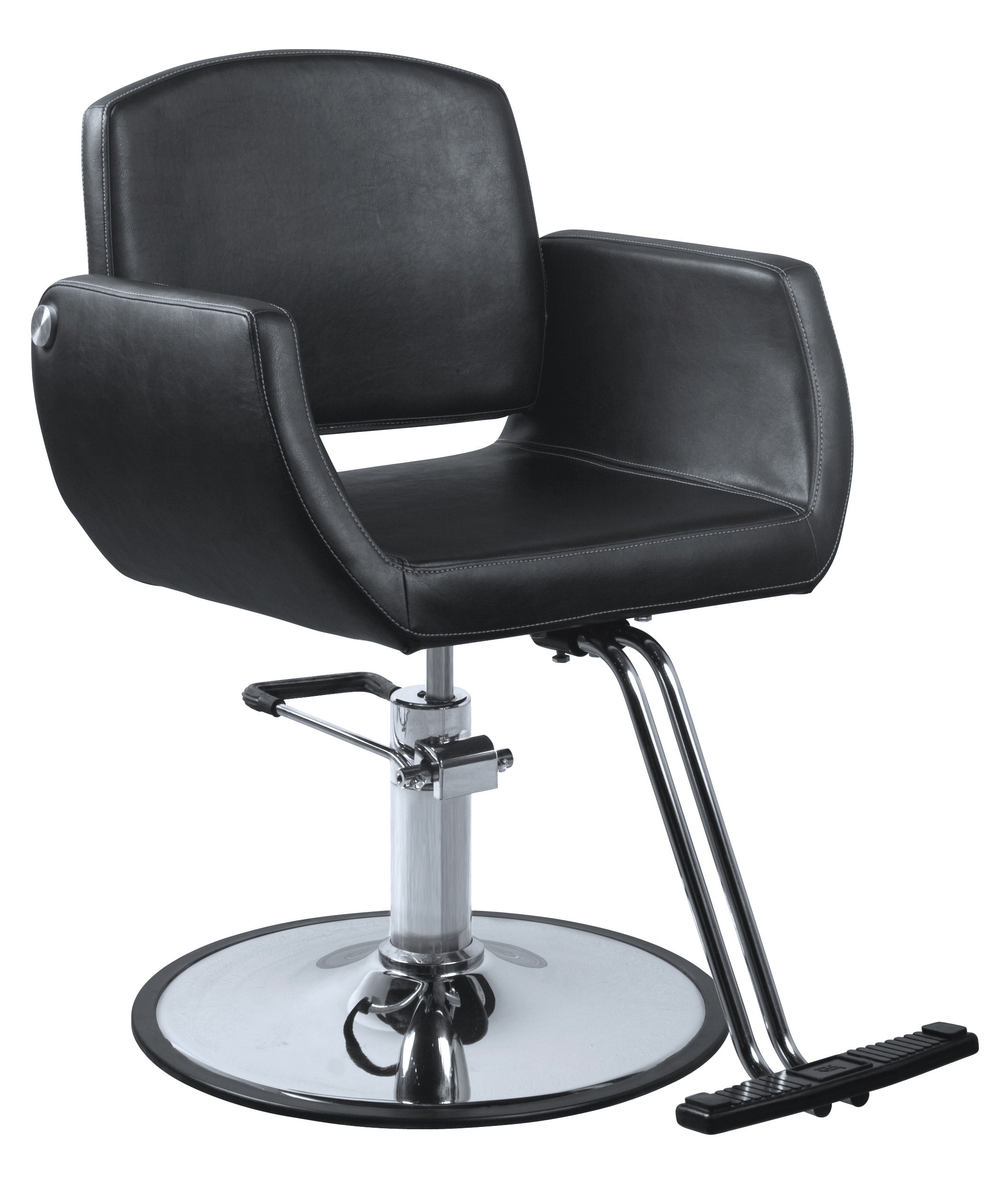 black salon chairs reclining chair with ottoman canada kate styling