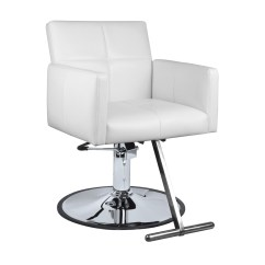 White Hair Styling Chairs Indoor Lounge Chair Cushions Fara Salon