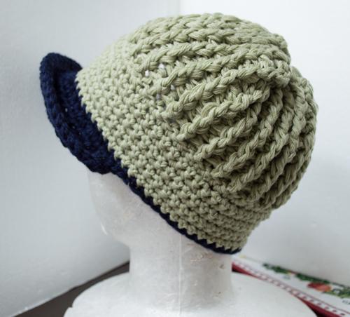 ニット帽キャップ かぎ針編み