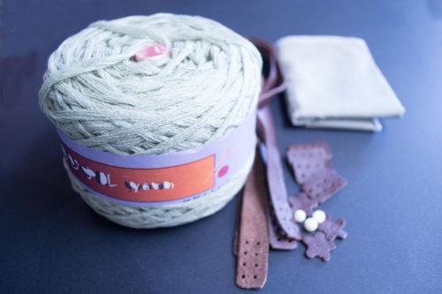 細編みバッグ材料