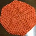 リフ編みクッションオレンジ