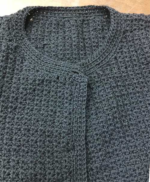 家具針編みの襟ぐり