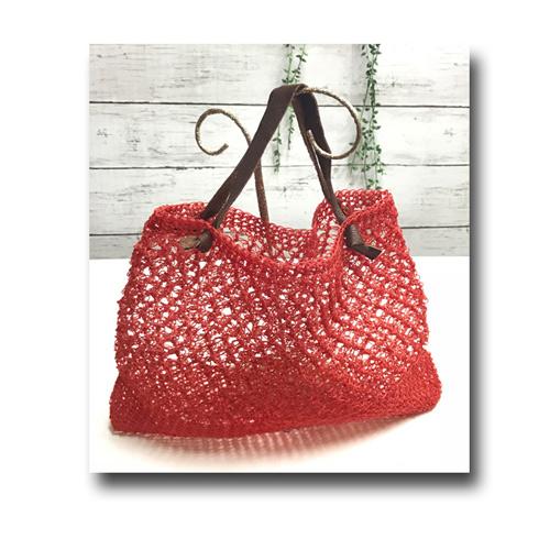 夏のネット編みバッグ