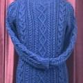 手編みアラン模様セーター