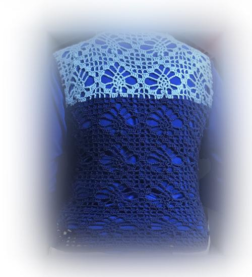 Mさんかぎ針編みベスト