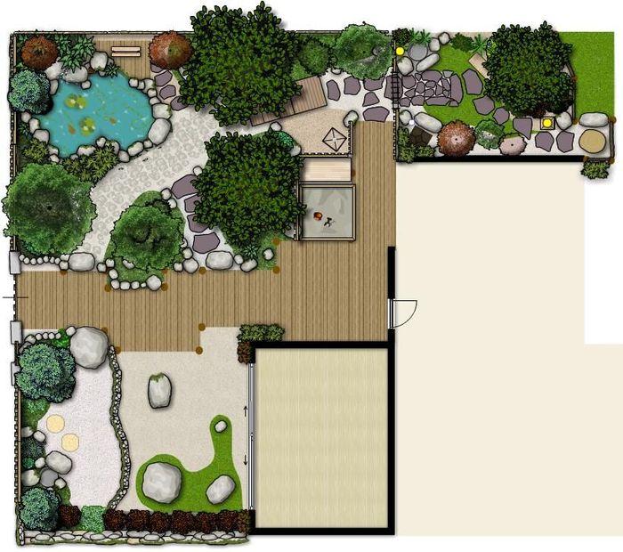 Chaise Detente Suspendu | Plan De Jardin Japonais - Salon De ...