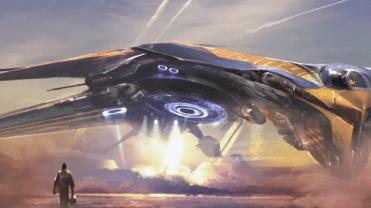 Star-Lord frente a.... ¿Una nave de los Nova Corps?