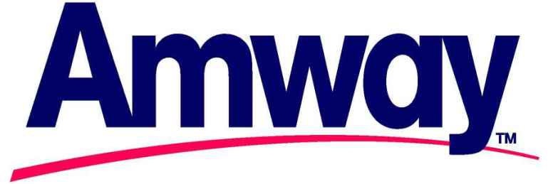 Trademarked Amway logo in four color