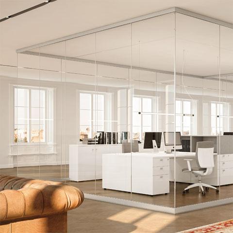 Come fare per dividere alcune zone della tua casa senza utilizzare le classiche murature? Ghost Pareti Divisorie In Vetro Salone Ufficio