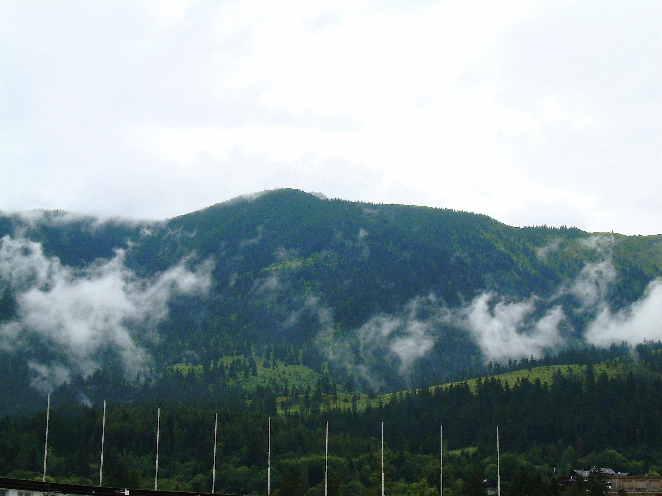 above Garmisch Olympik Stadium