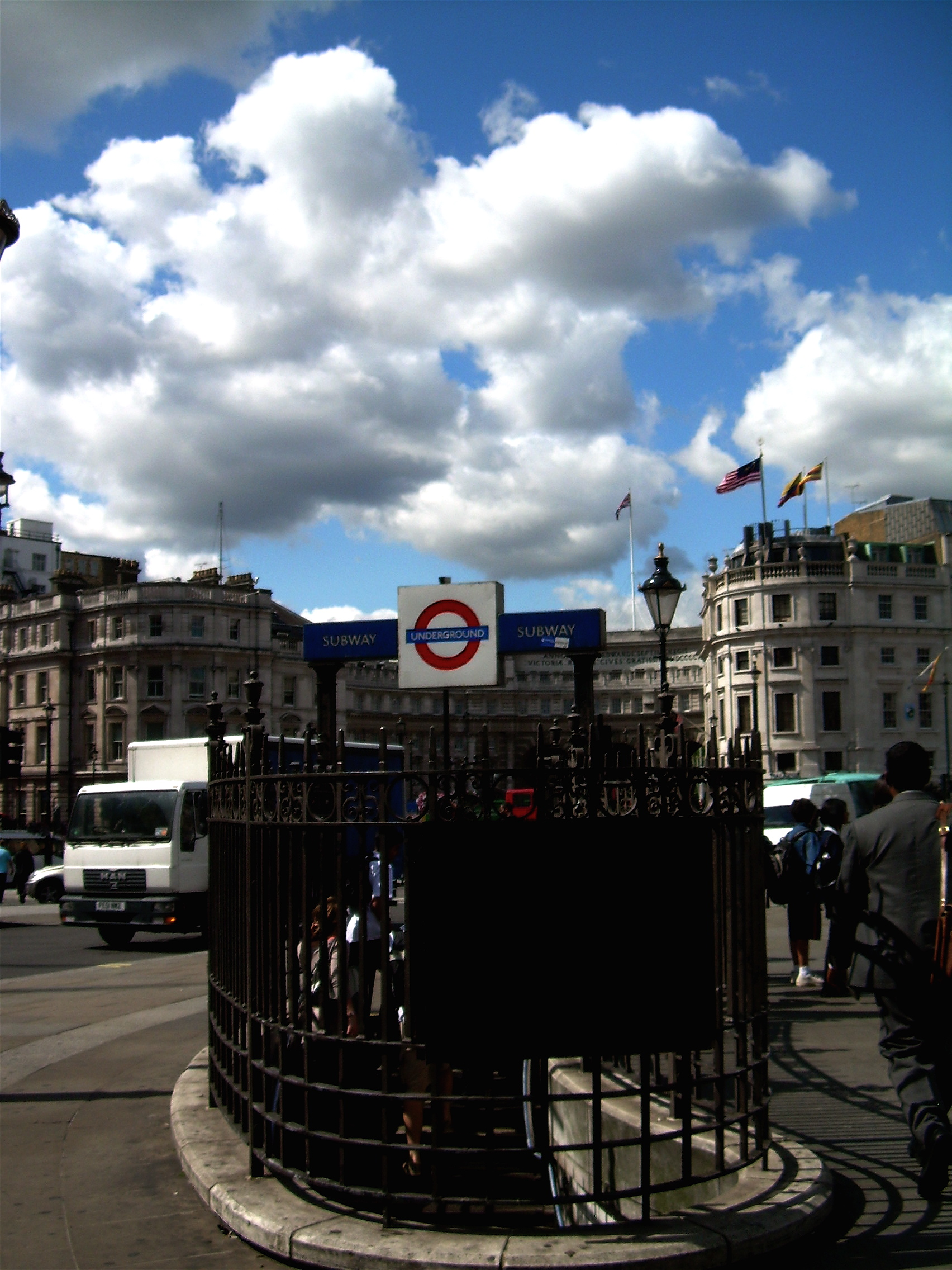 Underground Station at Piccadilly Square