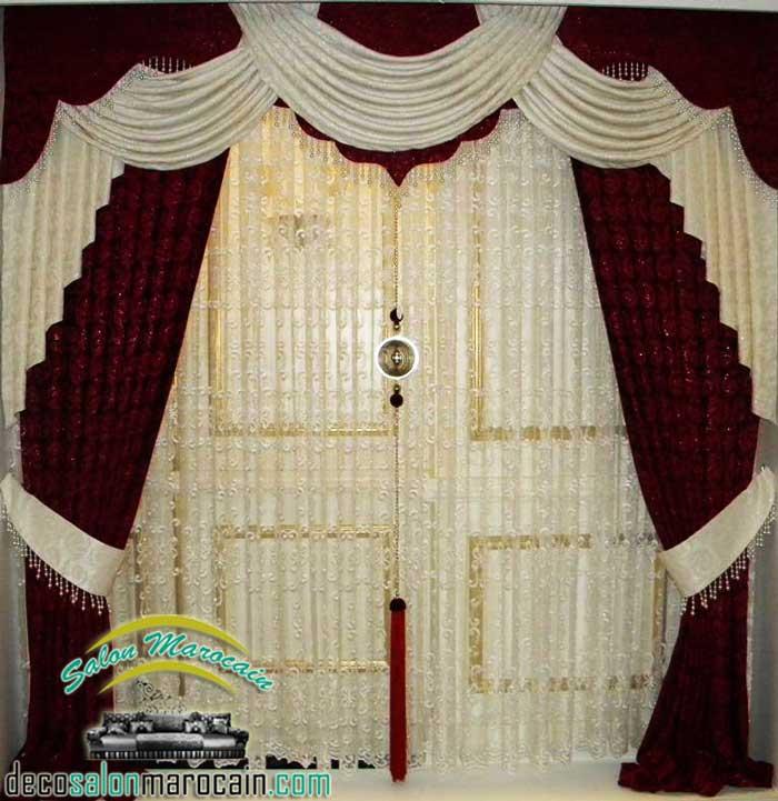 rideaux occultant rouge pas cher decoration marocaine