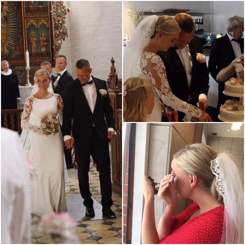 Opsætning af bryllupshår hos Salon Tiffany i Brovst i Nordjylland