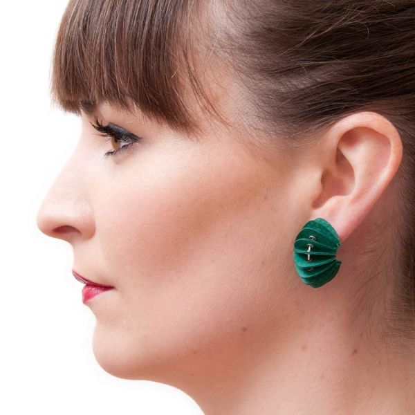 Handmade Paper Jewellery Paper Earrings Disperse Brights by Saloukee Lifestyle