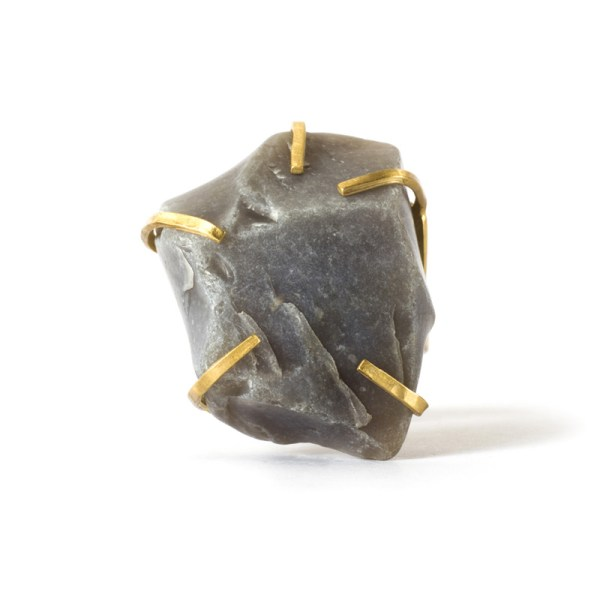 Handmade Quality Jewellery Handcrafted Ring Elvie Rock by Saloukee Top View