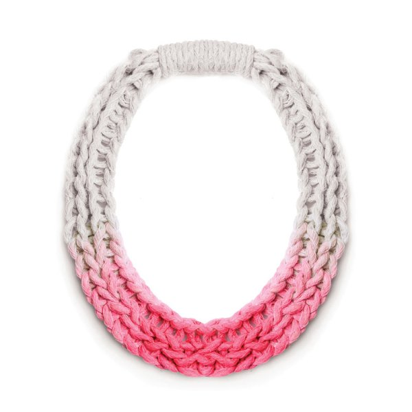 New Jewellery Designs Purls Necklace Neon Pink