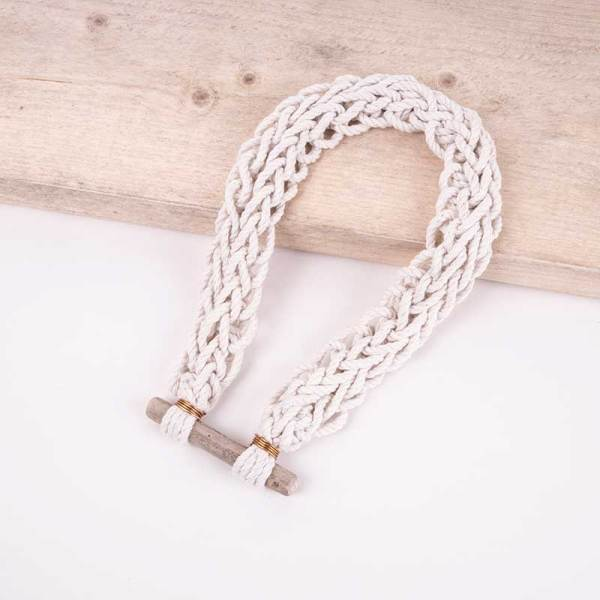 knotted beach necklace