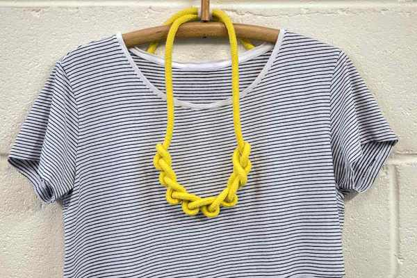 Knot necklace handmade by Saloukee