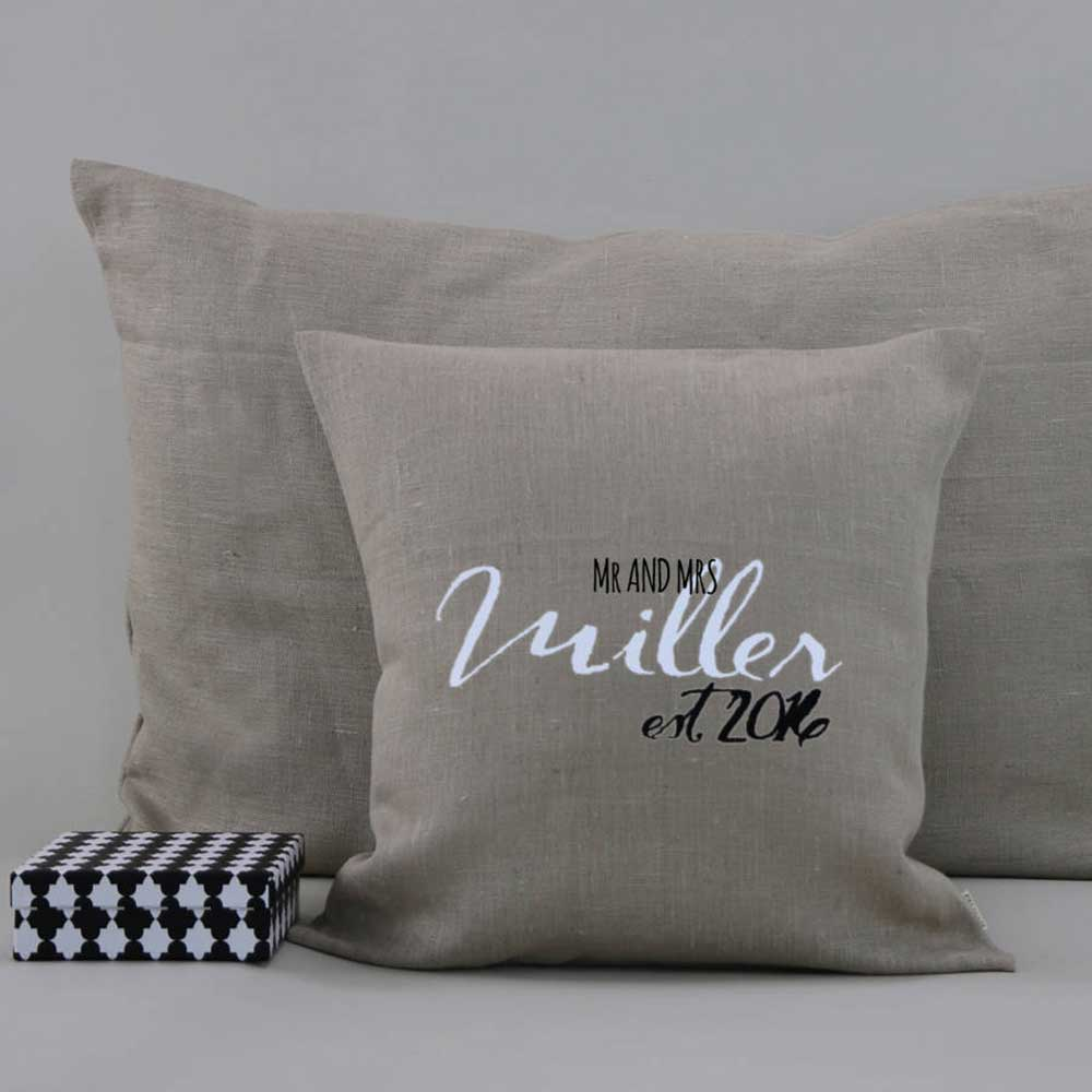 Fourth Anniversary Gift Ideas Linen cushions