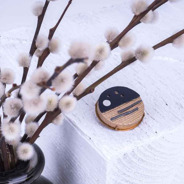 Leather Badge UK Made Moonlight