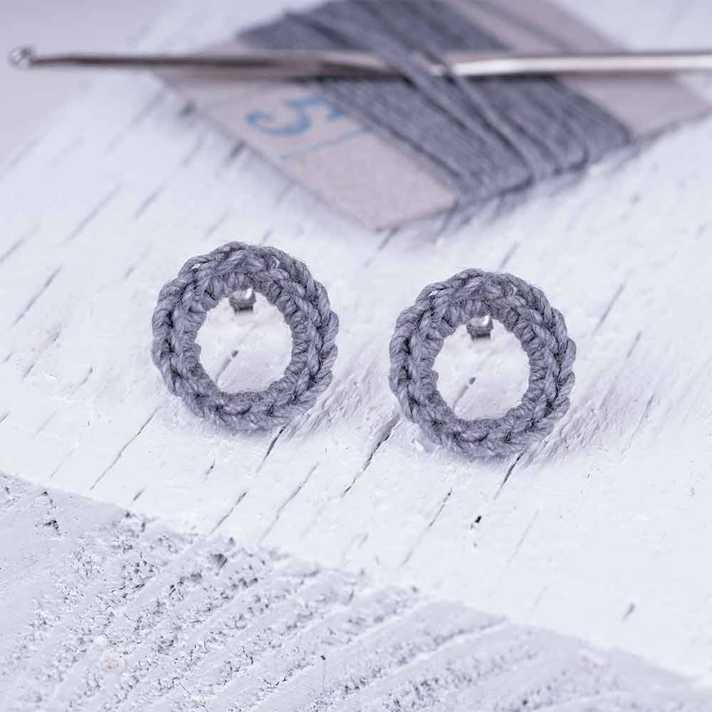Linen earrings made by hand