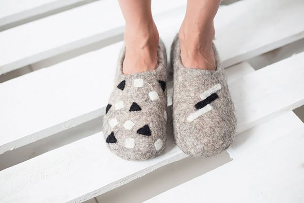 Seventh Wedding Anniversary Gift Ideas wool slippers