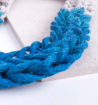 Blue Woven Jewellery Statement Necklace