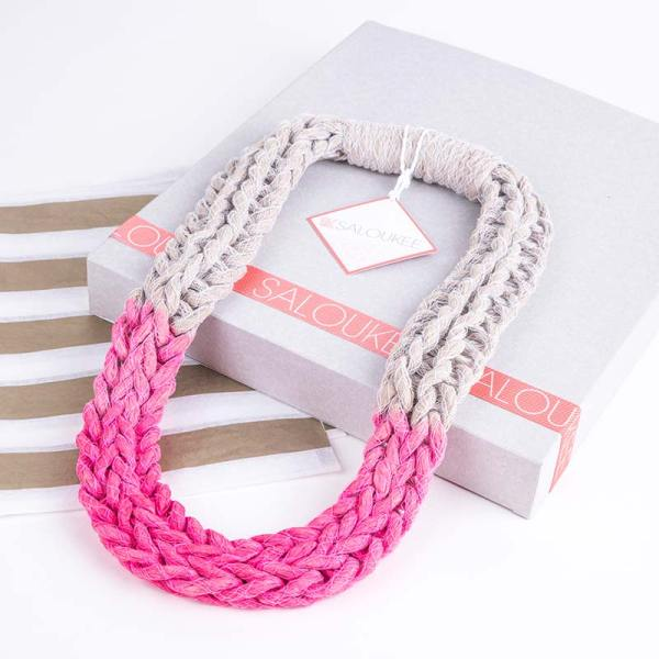 Woven Jewellery Statement Necklace Packaging