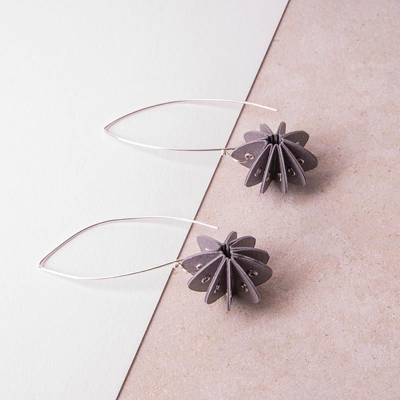grey paper earrings