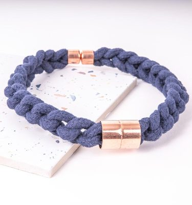 Blue Statement Necklace With Copper