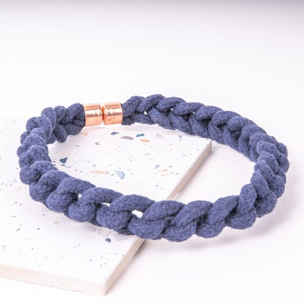 Blue Statement Necklace Woven
