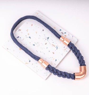 Blue Woven Necklace