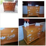 Painted dresser with floral design