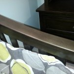 Touch up to crib rails